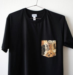 Image of DOGS POCKET TEE (black)