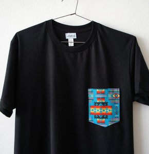 Image of AZTECA POCKET TEE (black)