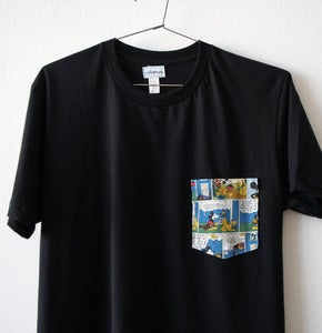 Image of MICKEY MOUSE POCKET TEE (black)