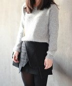 Image of Grey Angora Sweater