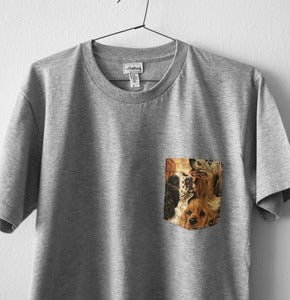Image of DOGS POCKET TEE (grey)