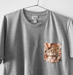 Image of PIGS POCKET TEE      (grey)