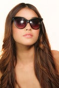 Image of Catherine Crystal Cat Eye Sunglasses