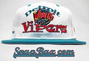 Image of Deadstock Vintage Detroit Vipers IHL #1 Apparel Snapback hat Cap