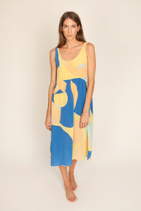 Image of Abby Dress, Jigsaw Print