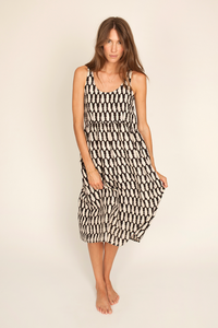 Image of Abby Dress, Kissing Black Print