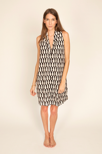Image of Eibel Dress, Kissing Black Print