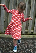 Image of Little Girls' Skater Dress sewing pattern -18m/2T, 3T/4T, 5Y/6Y, 7Y/8Y - PDF