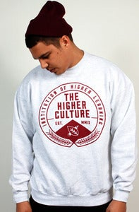 Image of Institution of Higher Learning Seal Crewneck (ash grey)