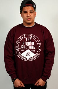 Image of Institution of Higher Learning Seal Crewneck (maroon)