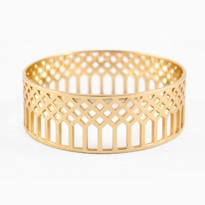 Image of Lattice Bangle | Golden