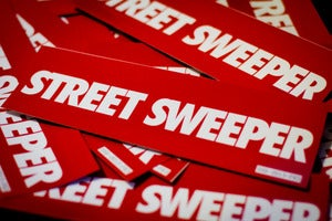 Image of Street Sweeper Bumper Sticker - RED