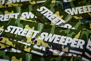 Image of Street Sweeper Bumper Sticker - CAMO