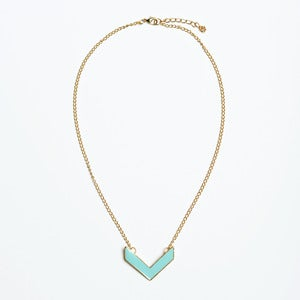 Image of Mint Chevron Necklace