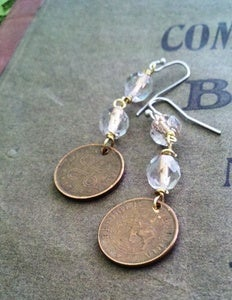 Image of Copper Coin Earrings
