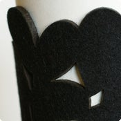 Image of cozy/cuff SNAP - black