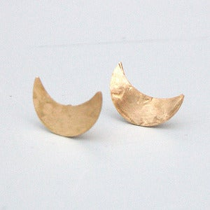 Image of Brass Half Moon Earrings by Rachel Loves Bob