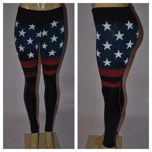 "Image of ""BLESS AMERICA"" Leggings"