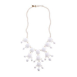 Image of Crew Bubble Statement Necklace:: White