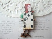 Image of Card Soldier Alice In Wonderland Brooch