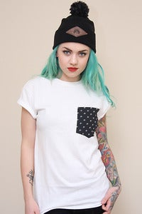 Image of Polka Wolves Pocket Tee