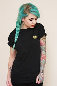 Image of Embroidered Logo Tee (Black)
