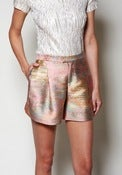Image of Metallic Linen Short
