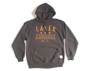 Image of Laser Mar &amp; Montaa hoodie charcoal
