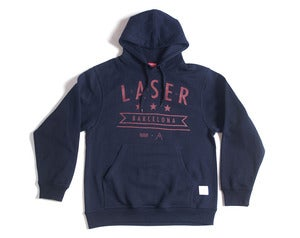 Image of Laser Mar &amp; Montaa hoodie navy