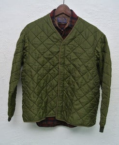 Image of Vintage quilted hunting vest/jacket (M)
