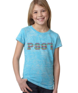 Image of PS 87 Rhinestone Tee - Neon Colors