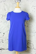 Image of Primary Colors Button Back Dress: Royal Blue