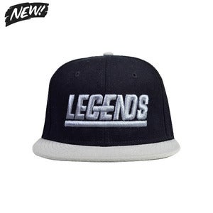 Image of SILVER &amp; BLACK LEGENDSNAPBACK