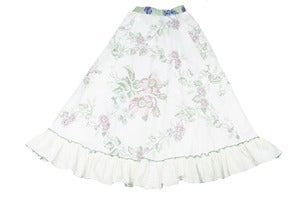 Image of Teen cross stitch look floral skirt size 10 to 12