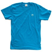Image of 8 Bit Apparel #Pixel Tee Neon Blue
