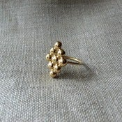 Image of diamond ring - vermeil