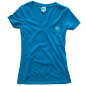 Image of 8 Bit Apparel #Pixel Womens Vneck Neon Blue