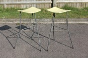Image of Pair of vintage Ernest Race stools designed circa 1950s for Race furniture (GB)