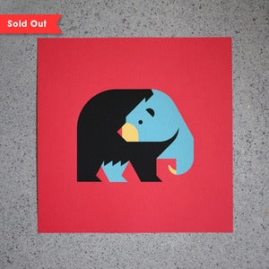 Image of Black Bear Screen Print