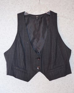Image of Mossimo Pinstripe Vest {Size 18W}