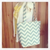 Image of Canvas Chevron Tote