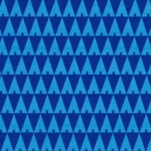 Image of tissu triangle trees bleu