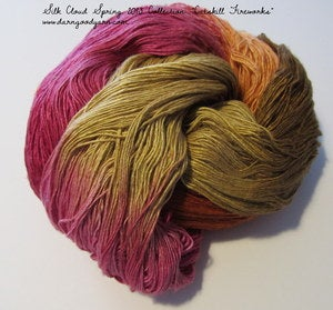 Image of Catskill Fireworks Silk Cloud Silk Yarn