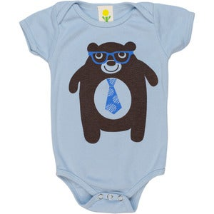 Image of Bear Short Sleeve Organic Onesie/Tee