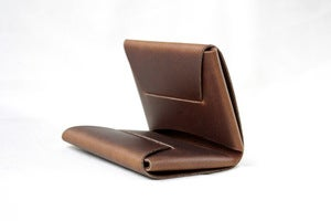 Image of The Folded Wallet - Medium Brown
