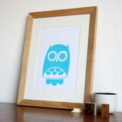 Image of Owl Hand Screenprinted Poster