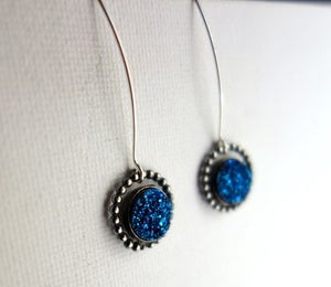 Image of Blue Druzy Orbit Studs
