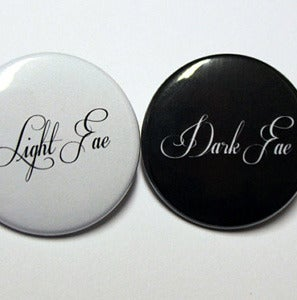 "Image of  Light or Dark Fae 1.5"" Pinback Button"