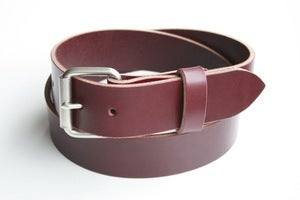 Image of The Roller Buckle Belt - Oxblood