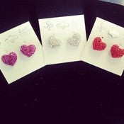 Image of Small Heart Studs 
